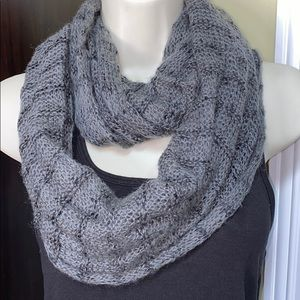 Gray sequin Infinity Scarf
